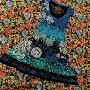 Desigual Short Sleeve Dress M